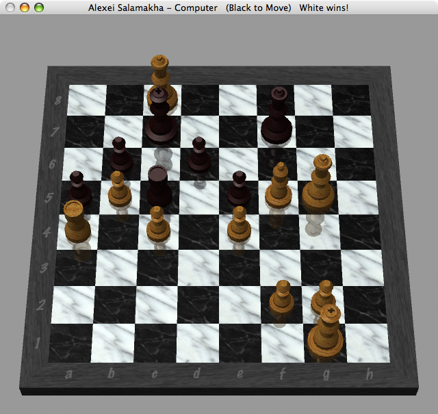 Chess Win over Macbook Pro